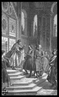 Alexios I meets the Princes of the 1st Crusade in Constantinople