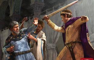 Valentinian III kills Aetius, 454