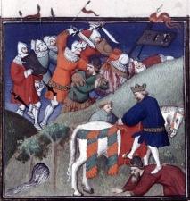 Medieval depiction of Manzikert