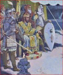Emperor Romanos IV and his army