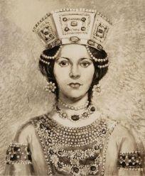 Empress Eudokia Makrembolitissa, wife of Constantine X and Romanos IV