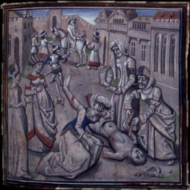 Andronikos I beaten to death, 1185