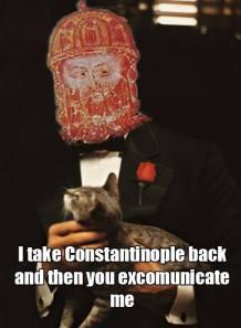 Meme of Michael VIII's excommunication