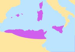 Vandal Kingdom (purple) in 455