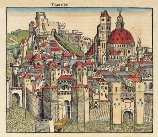 Medieval illustration of Nicaea, lost to the Ottomans in 1331