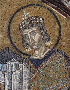 Constantine I the Great (r. 306-337), the first Byzantine emperor