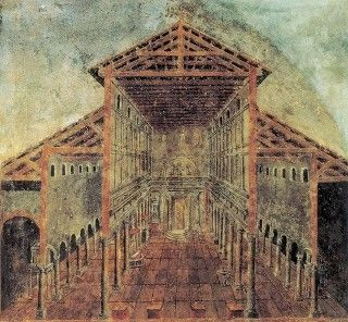 Old St. Peter's Basilica, Anthemius' hiding place, 472