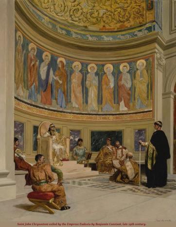Court of Emperor Arcadius in Constantinople