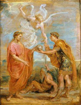 Constantius I (left) makes his son Constantine I an Augustus, 306