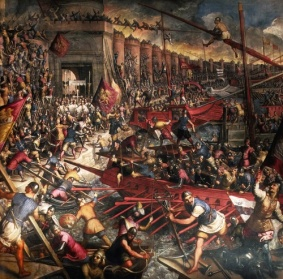 Constantinople falls to the 4th Crusade, 1204