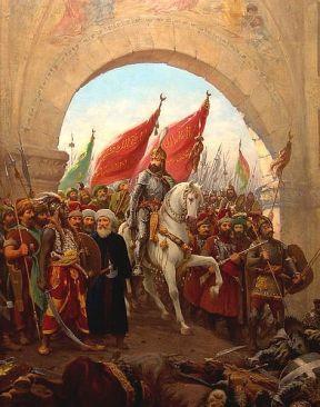 Sultan Mehmed II enters Constantinople, May 29, 1453