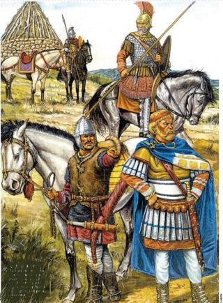 Aetius recruiting Visigoths to his army in Gaul