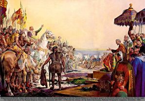 Anglo-Saxons join the Varangian Guard under Alexios I