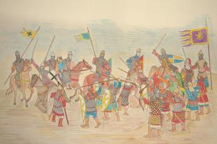 Byzantines against Normans at the Battle of Dyrrhachion, 1081