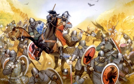 Defeat of the Byzantines to the Seljuks at Manzikert, 1071