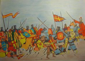 Battle of Pelagonia, Byzantines of Nicaea against Epirotes and Latin allies, 1259