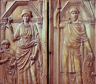 Relief of Stilicho (right) with his wife and son (left)