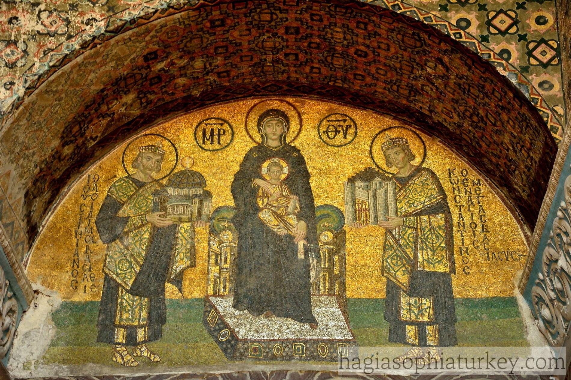 Constantine-justinian-theotokos-christ-child-mosaic-in-Hagia-Sophia-2