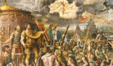 Constantine I the Great and the beginning of his conversion to Christianity