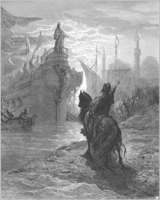 Alexios V confronts Dandolo, 1204