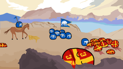 Defeat of the Byzantines at Manzikert reimagined