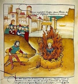 Bogomil heretics burned under Alexios I
