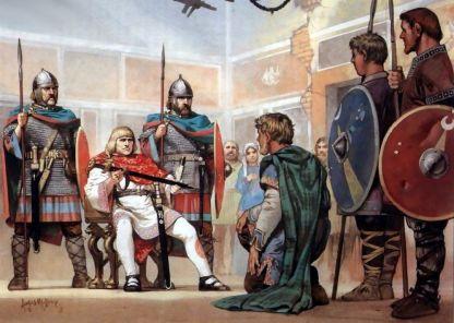 Crown of Romulus sent to Emperor Zeno, 476