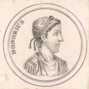 Emperor Honorius of the Western Roman Empire (r. 395-423)