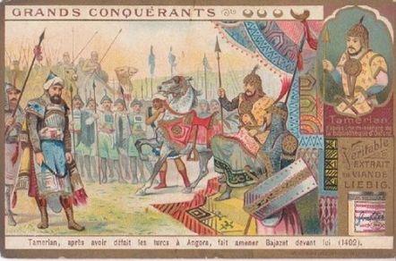 Timur captures Bayezid I after the Battle of Ankara, 1402