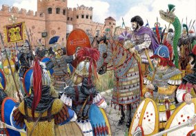 Belisarius' Byzantine Reconquest of Italy, 6th century