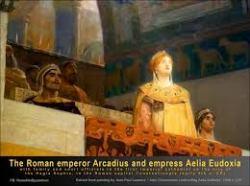 Emperor Arcadius and his wife Empress Aelia Eudoxia
