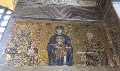 Emperor John II and Empress Irene mosaic, Hagia Sophia