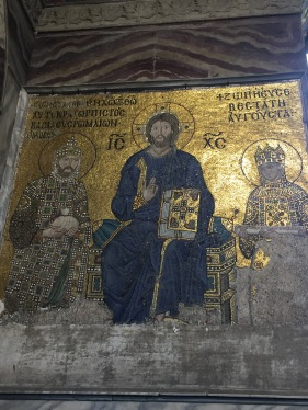 Constantine IX and Empress Zoe mosaic, Hagia Sophia