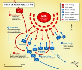 378, Battle of Adrianople war map