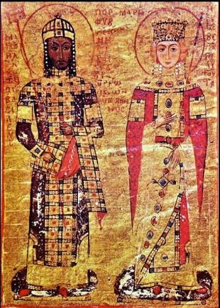 Emperor Manuel I and wife Empress Maria of Antioch