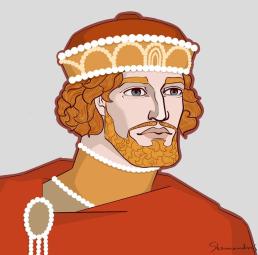 Emperor Andronikos I Komnenos of Byzantium (r. 1183-1185), art by Skamandros
