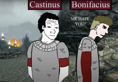 Generals Castinus and Count Bonifacius in Hispania, 422