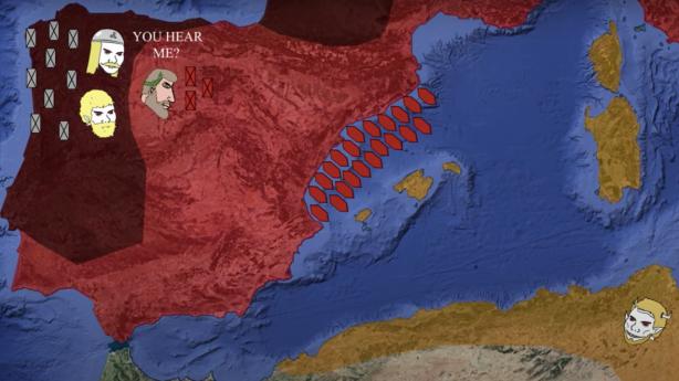 Majorian's reconquest of Hispania, 459-460, Vandal Kingdom (yellow)