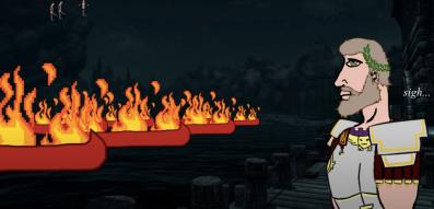 Majorian's fleet burned by traitors