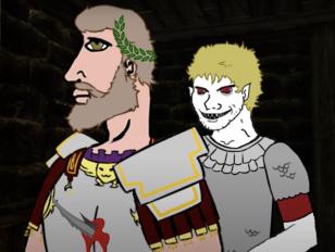 Ricimer (right) betrays Majorian