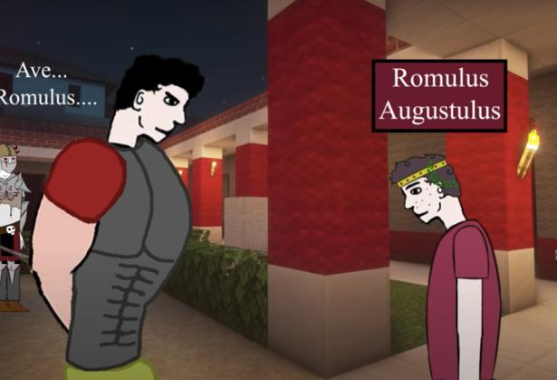 Orestes makes his son Romulus emperor, 475
