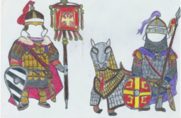 Sample sketch of my Byzantine army units