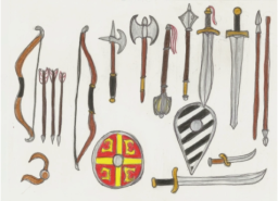 Sample sketch of my Byzantine weapons