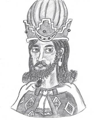 Shah Shapur I of the Sassanid Empire (r. 242-270)