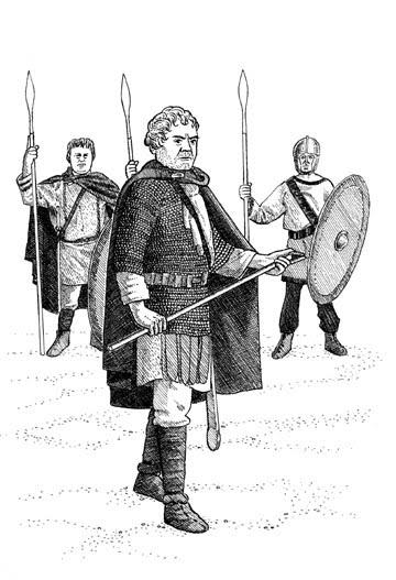 Aegidius, ruler of Soissons (461-465) with his troops