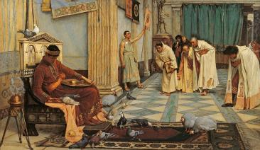 Emperor Honorius and his pet chickens in Ravenna