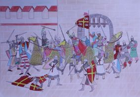 Byzantine Reconquest of Constantinople from the Latins in 1261, art by FaisalHashemi