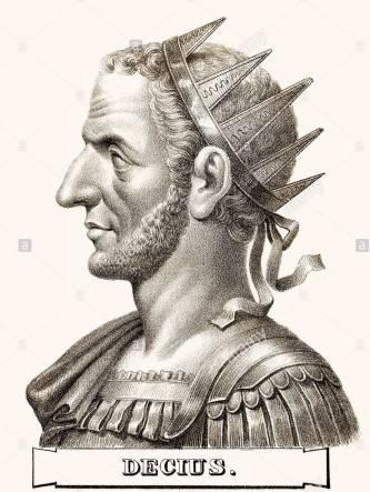 Roman emperor Decius (r. 249-251)