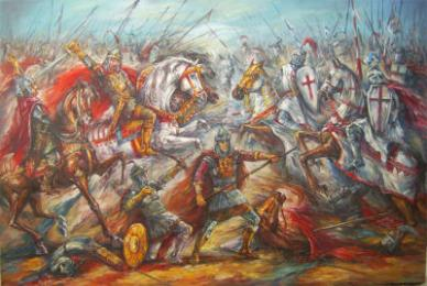 Defeat of the Latins to the Bulgarian army of Tsar Kaloyan at Adrianople, 1205