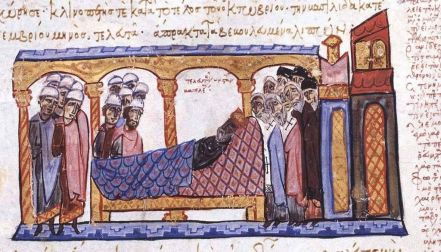 Death of Constantine VII in 959, Madrid Skylitzes